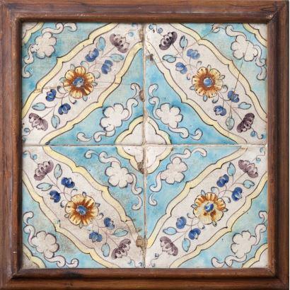 Conjunto de azulejos valencianos, circa 1800.