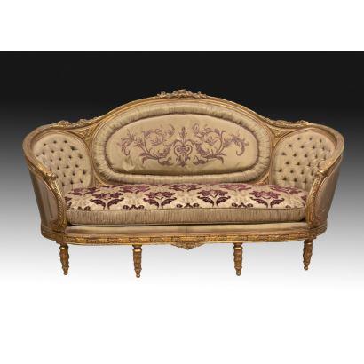 Sofá estilo francés, siglo XX.
