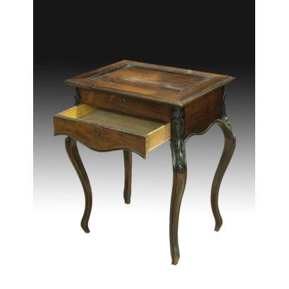 Muebles. Mesa costurero española isabelina, S. XIX.