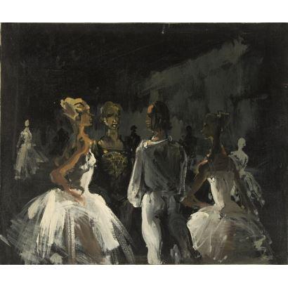 MONIQUE LANCELOT (1923-1982) óleo sobre lienzo