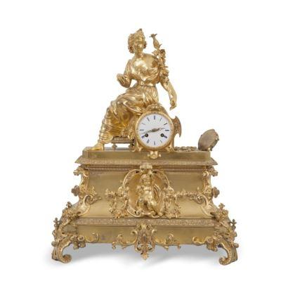 Reloj de sobremesa Luis Felipe, S. XIX.