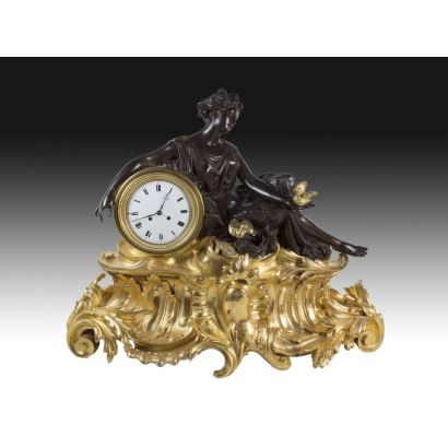 Relojes. Reloj de sobremesa francés, S. XIX.