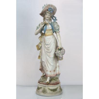 Figura en porcelana europea, pps. XX.