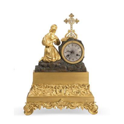 Reloj de sobremesa, Francia, mediados de siglo XIX.