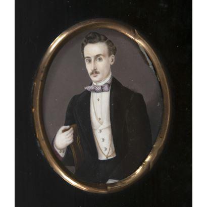 Miniatura española, siglo XIX.