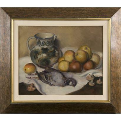 Pintura del siglo XX. Óleo sobre lienzo.