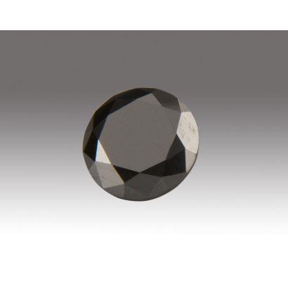 Magnífico Diamante Negro (Jet Black)  de 4cts. Peso: 0,7g.