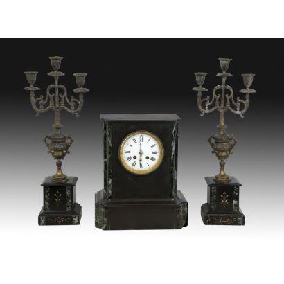 Reloj de sobremesa Napoleón III, siglo XIX.