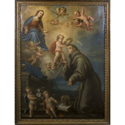 Pintura de Alta Época. FRANCISCO PRECIADO DE LA VEGA  (Écija, 1712 - Roma, 1789)