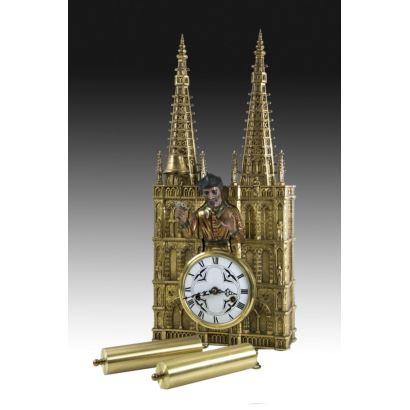 Reloj de pared con autómata del Papamoscas