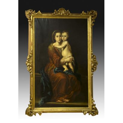 Pintura del siglo XIX. Siguiendo modelos de MURILLO  (Sevilla, 1618–1682)
