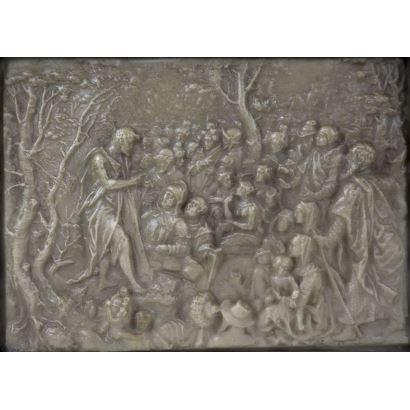 Relieve en alabastro, circa 1700.