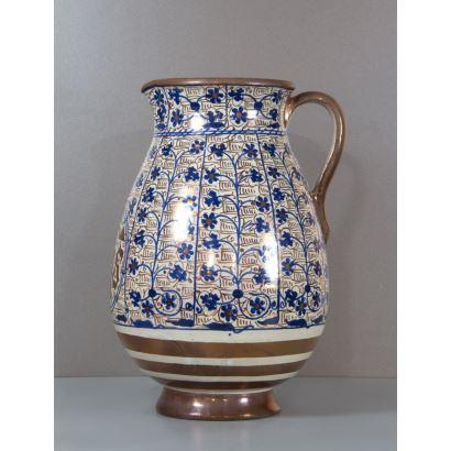 Jarra en cerámica valenciana, S. XX.
