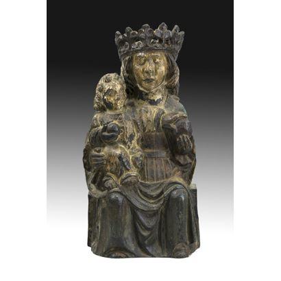 Virgen Gótica, siglo XVI.