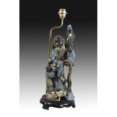 Lámpara de mesa China, S. XX.