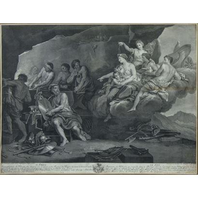 Grabado Italiano, siglo XIX.