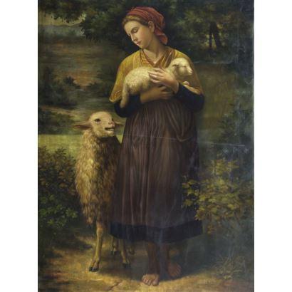 Siguiendo modelos de William-Adolphe Bouguereau (La Rochelle, Francia, 1825 - 1905)