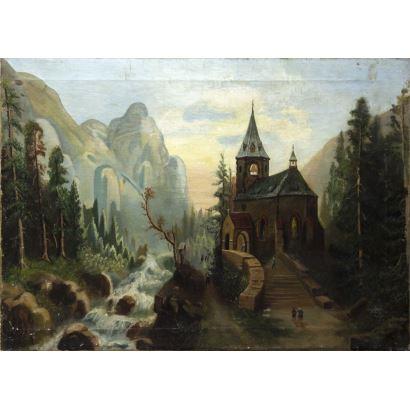 Pintura del siglo XX. Escuela Española, circa 1900.