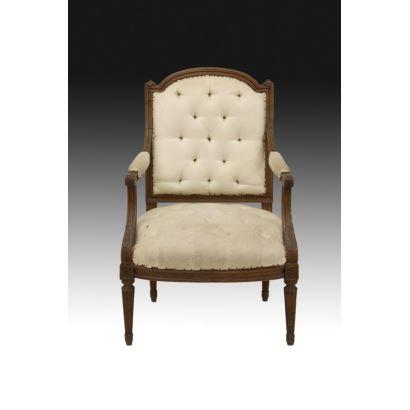 Sillón estilo Luis XVI, siglo XIX.
