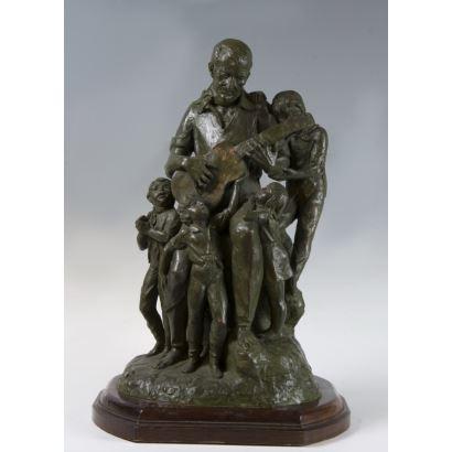 Grupo escultórico en bronce, pps. XX.