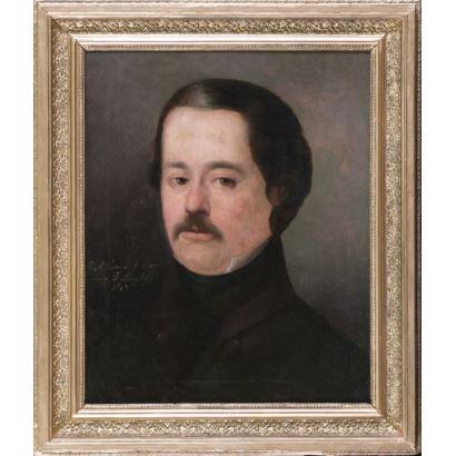 Pintura del siglo XIX. ESQUIVEL RIVAS, Carlos María (Sevilla, 1830-Madrid, 1867). Óleo sobre lienzo. 1849.