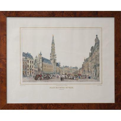 Litografía coloreada. Imprenta de H.BORREMANS, Bruselas. siglo XIX.