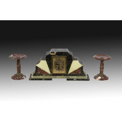 Reloj de sobremesa estilo Decó, años 30.