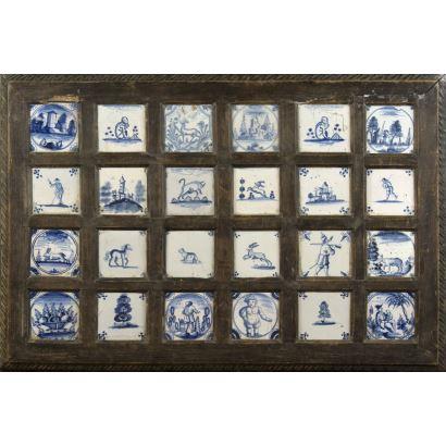 Panel de azulejos, Triana, siglo XVIII.