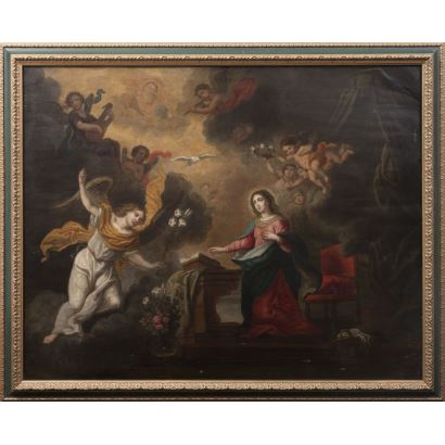 Pintura de Alta Época. Escuela española, S. XVII. Óleo sobre cobre.