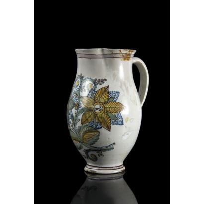 Jarra en cerámica catalana, siglo XIX.