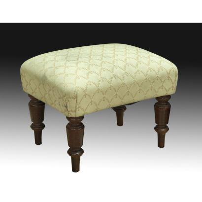 Muebles. Escabel tapizado, siglo XX.