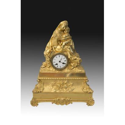 Reloj de sobremesa, estilo Louis Philippe, S. XIX.