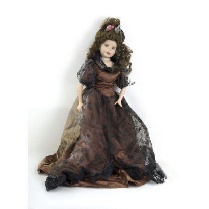Muñeca de porcelana, años 50.
