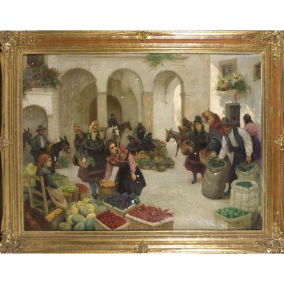 RAFAEL GONZÁLEZ SAENZ (1903-1962). Óleo sobre lienzo.