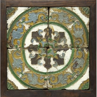Juego de azulejos sevillanos, siglo XVII.