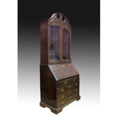 Bureau bookcase inglés, siglo XVIII.