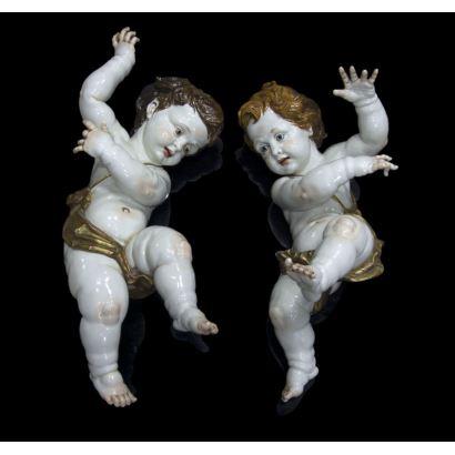Pareja de ángeles, Algora, S. XX.