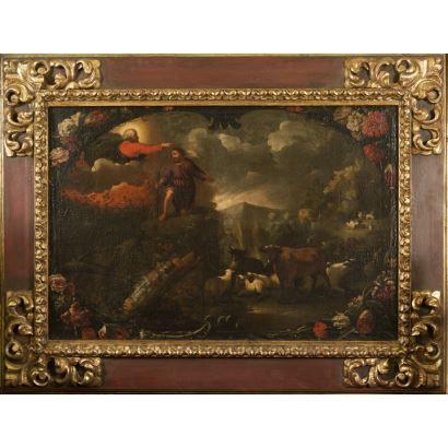 Pintura de Alta Época. Óleo sobre lienzo.