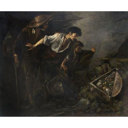 Pintura del siglo XIX. JOSÉ MARÍA RODRÍGUEZ DE LOSADA (Sevilla, 1826 - Jerez de la Frontera, 1896)