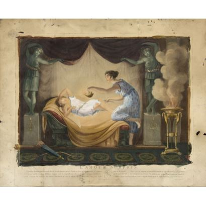 Grabado francés, siglo XIX.