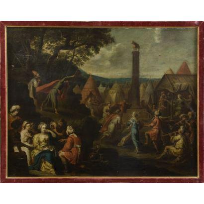 Pintura de Alta Época. Siguiendo modelos de Hans III Jordaens (1590 – 1643).
