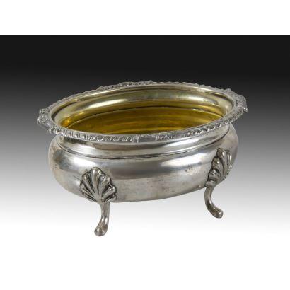Especiero en plata, ffs. XIX.