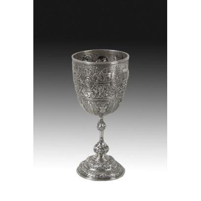 Cáliz en plata inglesa, siglo XIX.