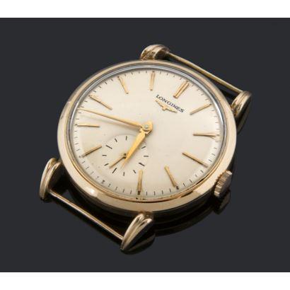 Caja de reloj en oro amarillo de la casa LONGINES. Peso: 43,2g.