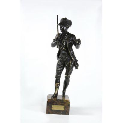 Figura en bronce, S. XX.