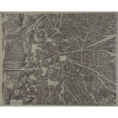 Mapa topográfico de Madrid, facsimil, S. XX.