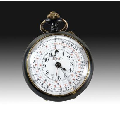 Reloj cronógrafo de bolsillo.