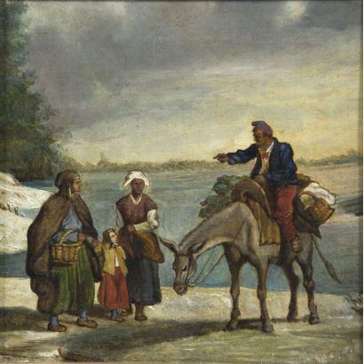 Pintura del siglo XIX. Escuela Española, circa 1900.