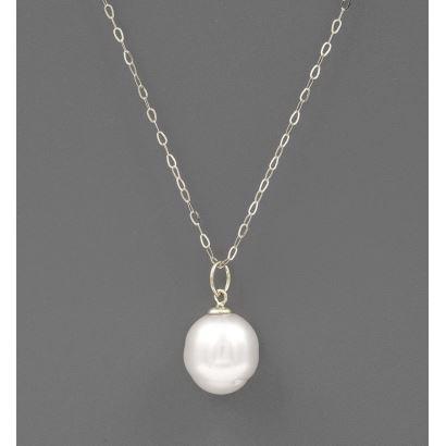Joyas. Colgante en oro blanco y perla australiana