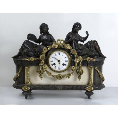 Reloj de sobremesa, fin S. XIX- ppios. S. XX.